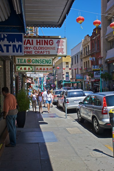 A street in Chinatown in San Francisco.