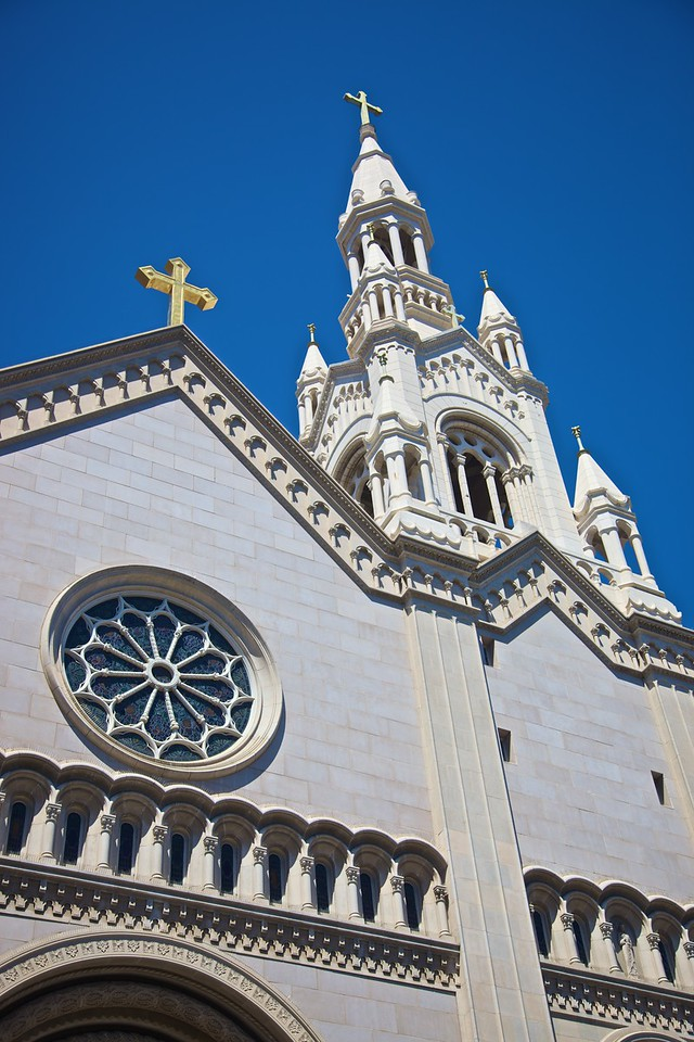 The church of Sts Peter and Paul in Telegraph Hill in San Francisco.