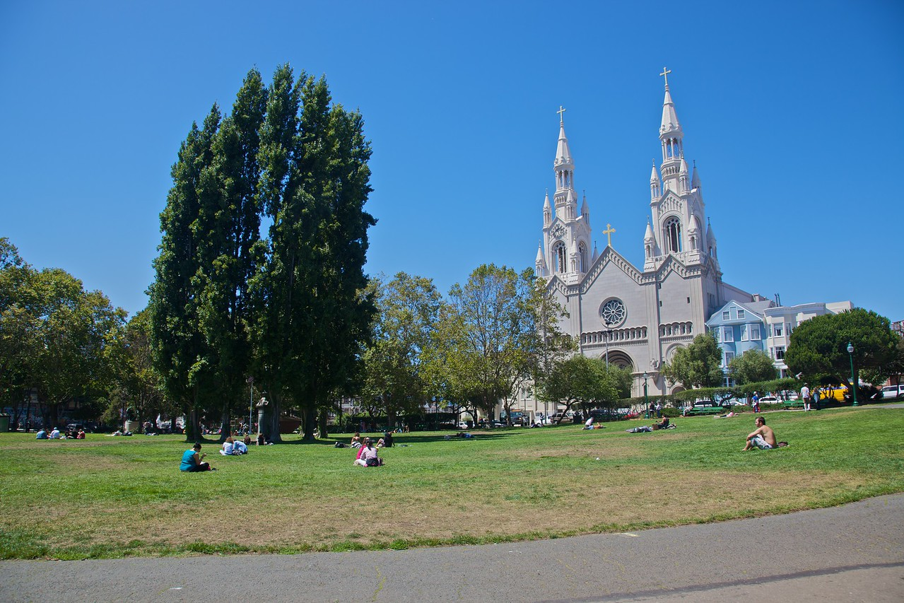 The Italian church of Sts Peter and Paul in Telegraph Hill in San Francisco.