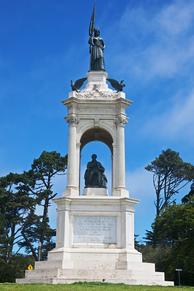 A monument to Francis Scott Key, the author of 'The Star-Spangled Banner', in the Golden Gate Park in San Francisco.