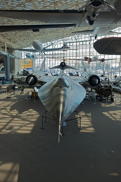 A Lockheed M-21 Blackbird on display at the Museum of Flight in Seattle.