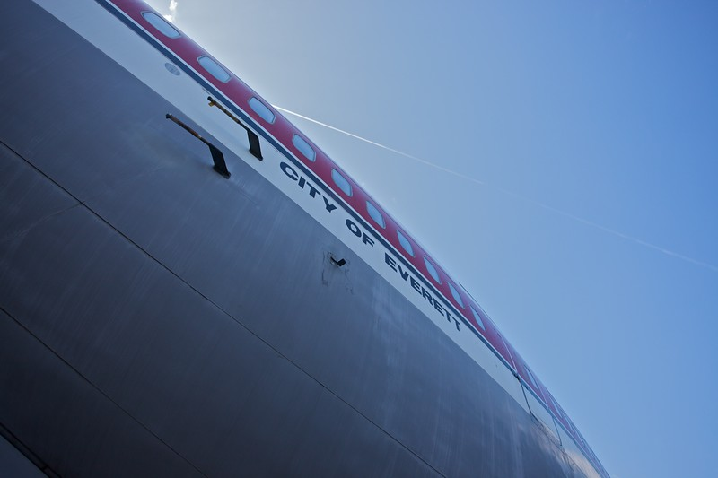The fuselage of the first 747 ever built, <cite>City of Everett</cite>.