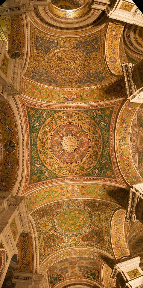 The ceiling of the All Saints' Chapel in St Louis Basilica.