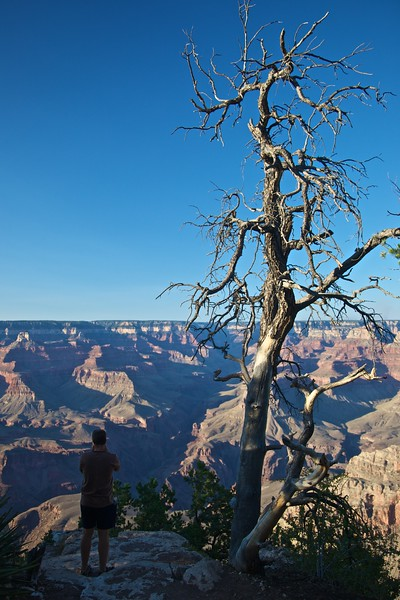 Photographing a portion of the Grand Canyon.