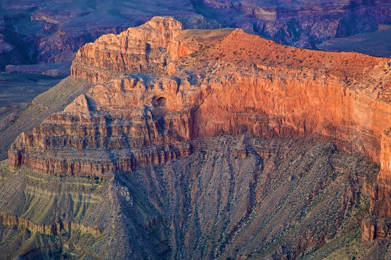 The Grand Canyon. When I look at this photo, I see a two-headed rock crocodile.