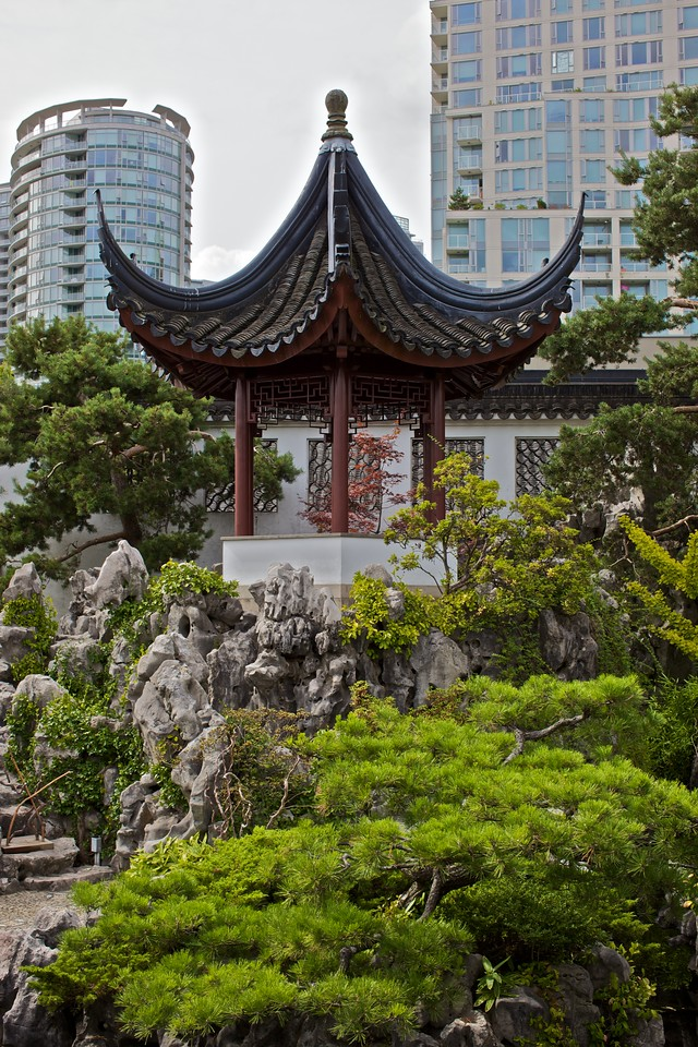 The pagoda in the Dr Sun Yat-Sen park in Vancouver.