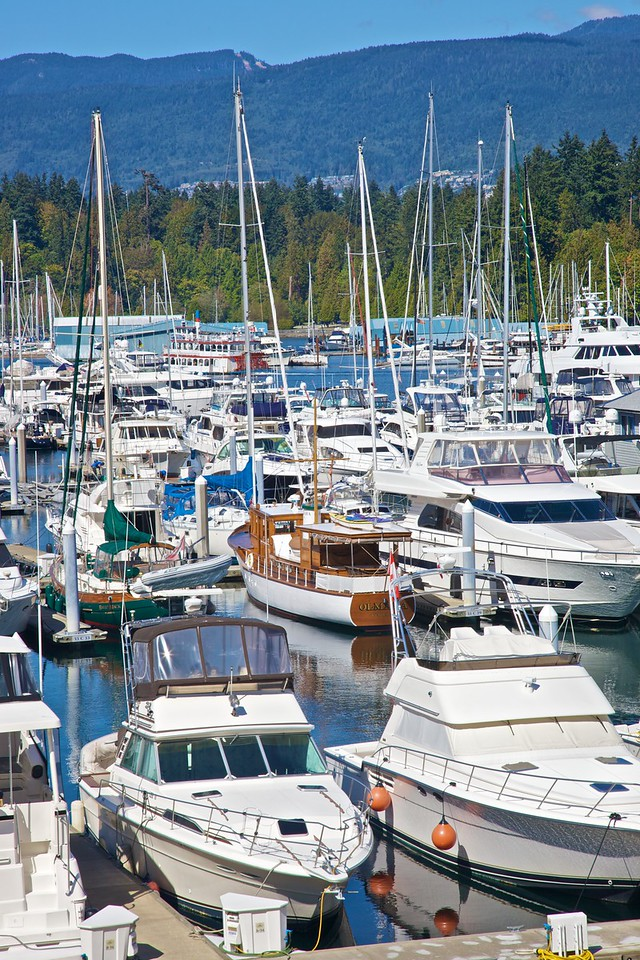 Boats in Vancouver.