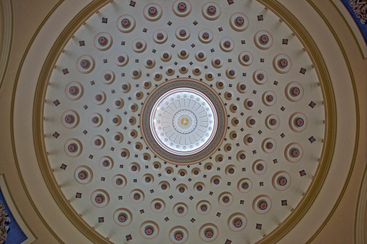 The dome of Baltimore cathedral.