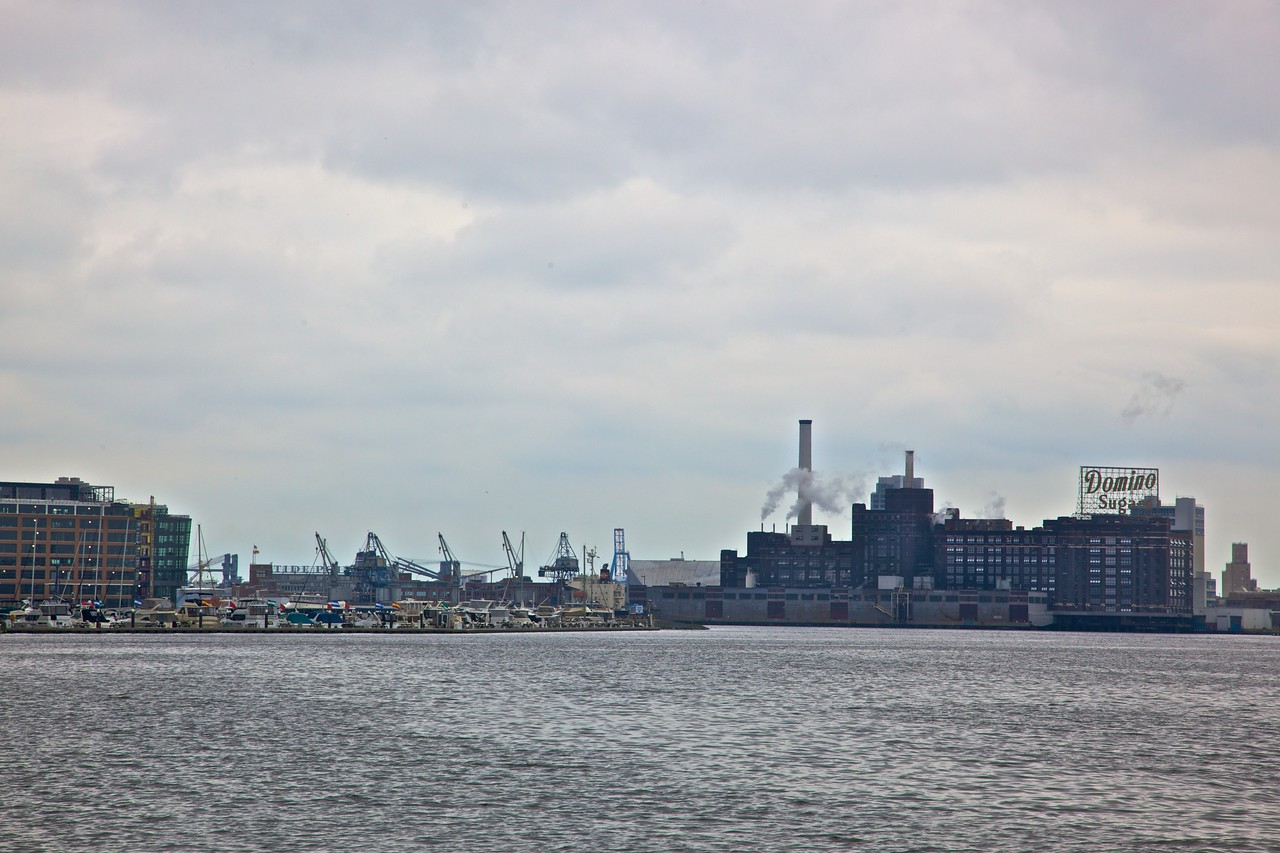 In spite of the gentrification of some of Baltimore's waterfront area, some industrial concerns remain.