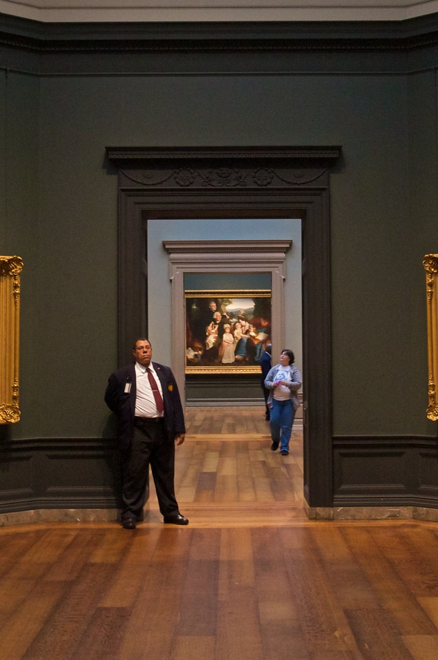 On guard at the National Gallery of Art.
