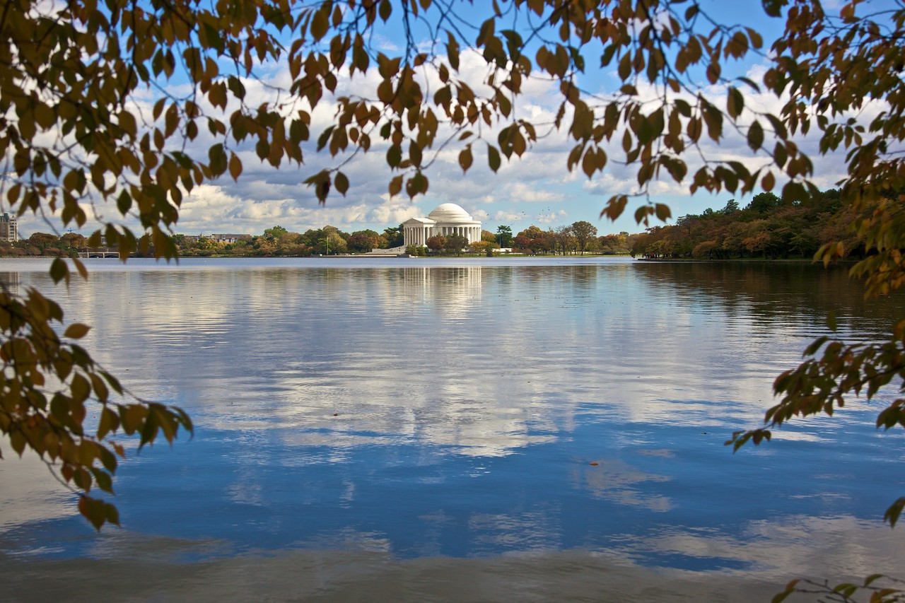 Looking towards the Jefferson Memorial.