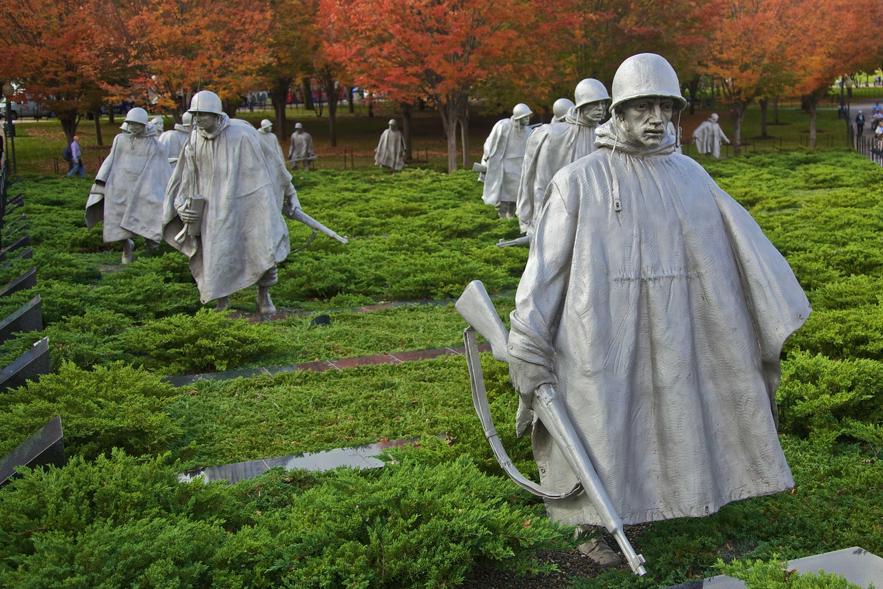 The Korean War Memorial.