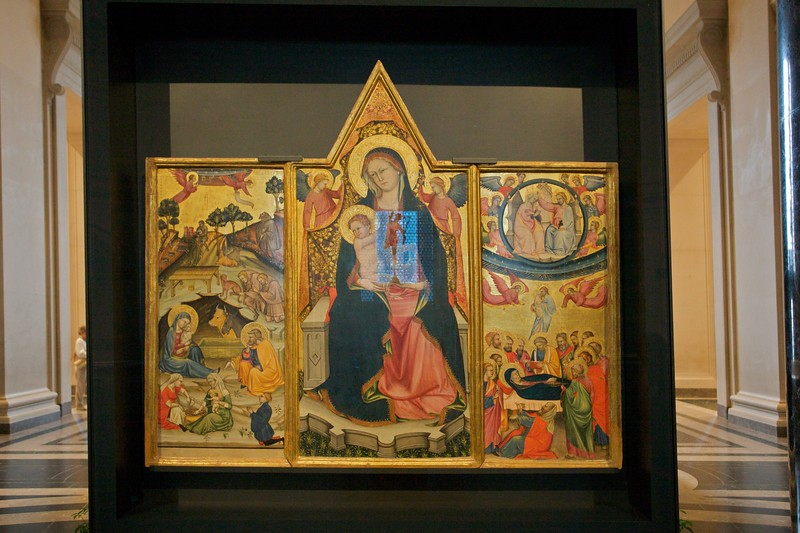 The Beffi Triptych, lent to the National Gallery of Art following the destruction of the National Gallery of Abruzzo in L'Aquila as a result of the earthquake.