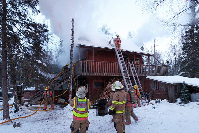 A fire scene is a flurry of intense action from the time of arrival until the fir is knocked down.