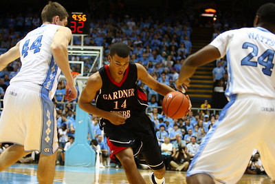 The Runnin' Bulldogs played a fierce game which equalled a lot of contact and fouls.  Thomas Staton will do what it takes to push through UNC's defense.
