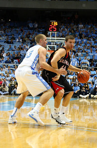Luke Engelken does an excellent job keeping UNC at bay.