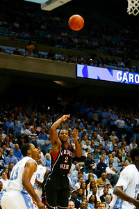 Gardner-Webb Runnin' Bulldogs play hard against 11th ranked UNC with a final score of 93-72.