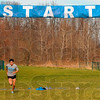 Tribune-Star/Joseph C. Garza<br /> Early start: UCLA cross country runner Marco Anzures practices his start Sunday at the Lavern Gibson Championship Cross Country Course.