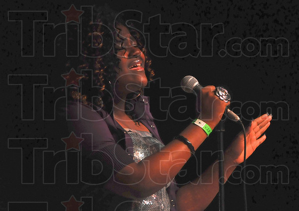Wabash Valley's Got Talent contestant Darielle Jordan performs during Friday night's competition at the Indiana Theater.