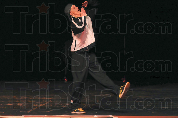 Wabash Valley's Got Talent contestant Marcus Tener performs during Friday night's competition at Indiana Theater.
