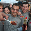 "Tribune-Star/Joseph C. Garza<br /> Lake of fire: Altrusa Chili Cookoff competitor Jason Lake's chili was deemed the hottest by the judges which led to his first place finish in the individual ""hottest"" category Saturday."