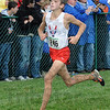 Determination: North's #246, Tyeson Mundy sprints to the finish line during Saturday's Cross Country State Finals.