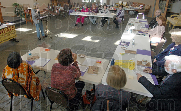 Workshop: About a dozen people participated in the third annual The Arts as Healing Tools Workshop Saturday afternoon.