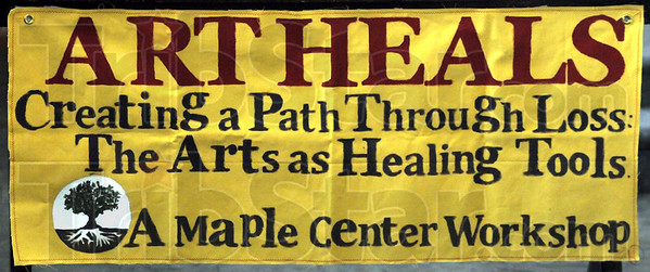 Art Heals: Detail photo of workshop banner.