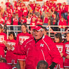 Tribune-Star/Joseph C. Garza<br /> Proud of his pride: Marshall coach Todd Evers expresses his pride in his team after the Lions' semifinal game against Maroa-Forsyth Saturday in Marshall.