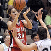 Good look: Terre Haute South's #30, Emily Bell takes a shot from the corner during game action against Northview Saturday evening.