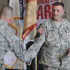 Award winner: Master Sgt. Paul Wetnight gets a congratulatory handshake after being promoted and winning an Indiana Comendation Saturday afternoon.