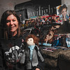 "Tribune-Star/Joseph C. Garza<br /> New Moon madness: Twilight fan Andrea Dunn and friends will be hosting a New Moon Wabash Valley premier party at Kerasotes Theater Showplace 12 from 8 p.m. to 11 p.m. today. Here, Dunn displays some of her and fellow fans' movie-related material, including a not-quite-finished ""Stuff-ward"" doll, Wednesday at her home"