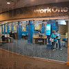 Tribune-Star/Joseph C. Garza<br /> Inviting: The redesigned front entrance of the new WorkOne Western Indiana Service Center.