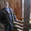 Wreath heist:  Mike Roe stands inside the Bridgeton covered bridge where vandals remove two planks in the side wall of the bridge to remove a giant Christmas wreath.