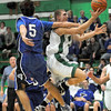 Whacked: West Vigo's #5, Tyler Wampler gets whacked across the arm by North Vermillion's #5, Scott Leigh during game action Wednesday night.