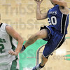 Jumps: North Vermillion's #20, Zach Jumps does just that as he takes the ball to the basket during first half action against West Vigo Wednesday evening.