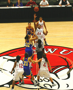 The GWU Women's Basketball team hosted the Limestone Saints on November 19th, 2009.