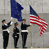 Honor guard: Members of the Rockville Correctional Facility honor guard post the colors during Tuesday's ceremony.