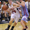 Driven: North's #24, Olivia Finley drives the baseline during game action agains a Turkey Run defender Tuesday evening.