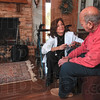 Tribune-Star/Joseph C. Garza<br /> Personal attention: Hospice of the Wabash Valley RN Linda Drummy talks with her patient, Howard Benthien, during a visit to his home Tuesday. November is national homecare/Hospice month.