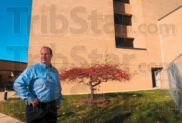 Tribune-Star/Joseph C. Garza<br /> A new infusion center: Terre Haute Regional Hospital Chief Financial Officer Brian Bauer discusses the process of the construction and implementation of a new infusion center Tuesday at the hospital.