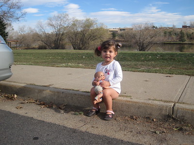 Mia and Baby Clare at Viele Lake