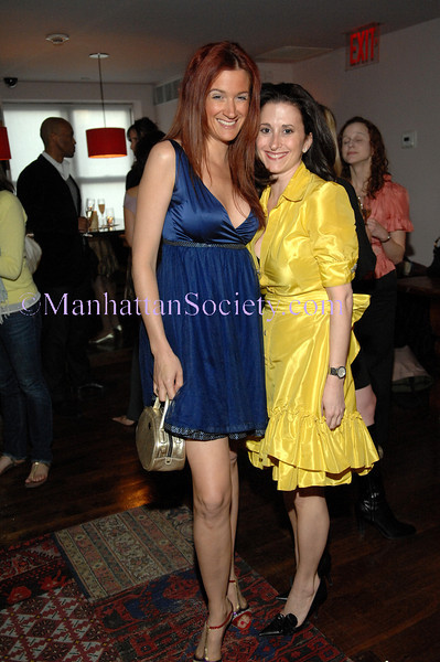 NEW YORK-APRIL 29: Designer Tiffany Koury with Orchid Resorts & Escapes Founder, Stacy Dreyfus wearing Tiffany Koury, attend ORCHID | Resorts & Escapes Cocktail Soiree Celebrating NYC Showcase   on Wednesday, April 29, 2009 at SOHO House, 29-35 Ninth Avenue, New York City, NY (Photo Credit: ©Christopher London/ManhattanSociety.com)