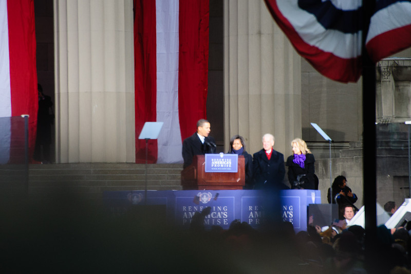 President-elect and Mrs. Obama, vice-president elect and Mrs. Biden.