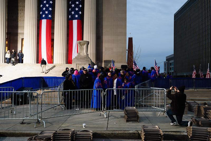 The choir departs