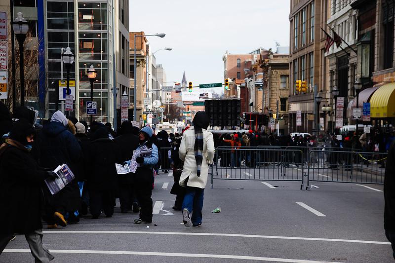 Barricades on South St.