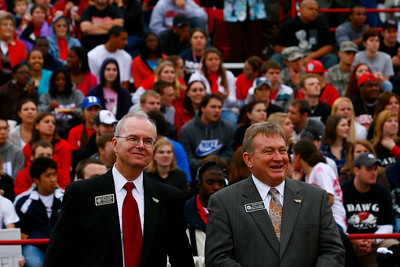 Gardner-Webb Distinguished Alumni of 2009 are presented during half time of the Homecoming 2009 football game.