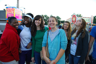 Students escape from campus and studying to spend some time at the Cleveland County Fair.