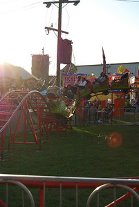 The Dragon roller coaster is one of the main attractions for kids at the Cleveland County fair.