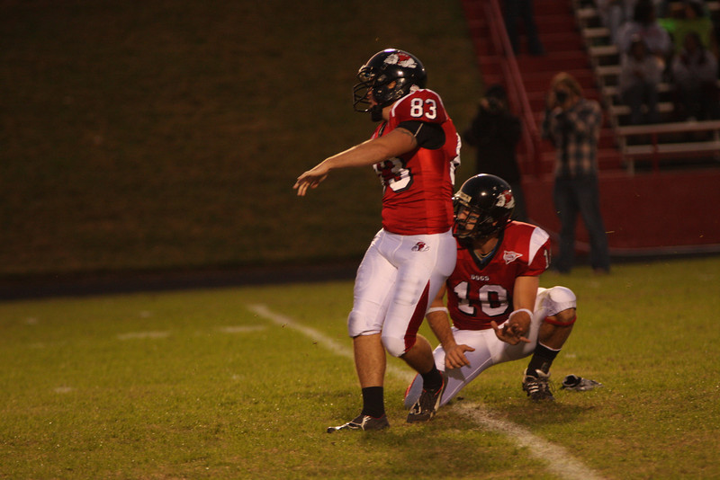 Mens football game vs Southern Virginia. Gardner Webb steamrolled the opposing team 65 - 0.